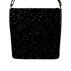 Dots Pattern Flap Messenger Bag (l)  by ValentinaDesign