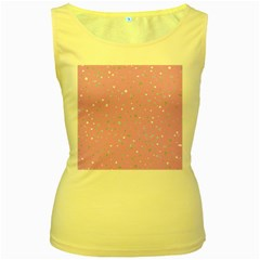 Dots pattern Women s Yellow Tank Top