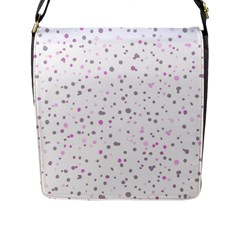Dots Pattern Flap Messenger Bag (l)  by ValentinaDesign