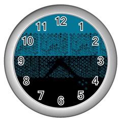 Abstract Art  Wall Clocks (silver)  by ValentinaDesign