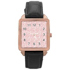 Abstract Art  Rose Gold Leather Watch  by ValentinaDesign