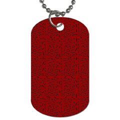 Abstract Art  Dog Tag (one Side) by ValentinaDesign