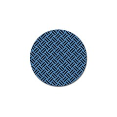 Woven2 Black Marble & Blue Colored Pencil (r) Golf Ball Marker (10 Pack) by trendistuff