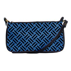 Woven2 Black Marble & Blue Colored Pencil (r) Shoulder Clutch Bag by trendistuff