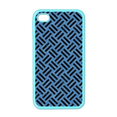 Woven2 Black Marble & Blue Colored Pencil (r) Apple Iphone 4 Case (color) by trendistuff