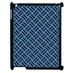 Woven2 Black Marble & Blue Colored Pencil (r) Apple Ipad 2 Case (black) by trendistuff