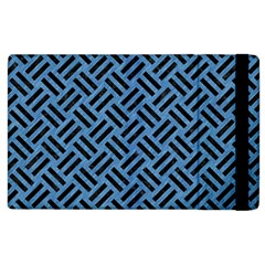 Woven2 Black Marble & Blue Colored Pencil (r) Apple Ipad 2 Flip Case by trendistuff