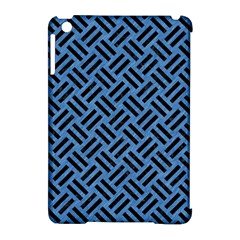 Woven2 Black Marble & Blue Colored Pencil (r) Apple Ipad Mini Hardshell Case (compatible With Smart Cover) by trendistuff