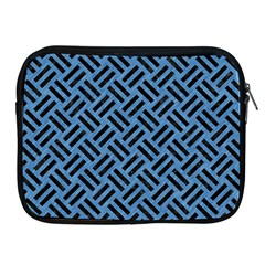 Woven2 Black Marble & Blue Colored Pencil (r) Apple Ipad Zipper Case by trendistuff