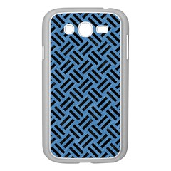 Woven2 Black Marble & Blue Colored Pencil (r) Samsung Galaxy Grand Duos I9082 Case (white) by trendistuff