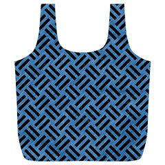 Woven2 Black Marble & Blue Colored Pencil (r) Full Print Recycle Bag (xl) by trendistuff