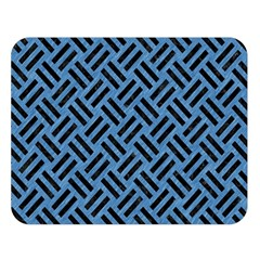 Woven2 Black Marble & Blue Colored Pencil (r) Double Sided Flano Blanket (large) by trendistuff