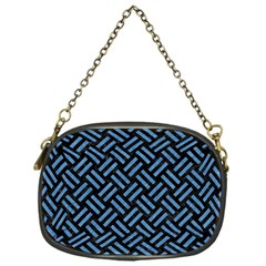 Woven2 Black Marble & Blue Colored Pencil Chain Purse (one Side) by trendistuff