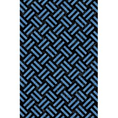 Woven2 Black Marble & Blue Colored Pencil 5 5  X 8 5  Notebook by trendistuff