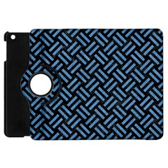 Woven2 Black Marble & Blue Colored Pencil Apple Ipad Mini Flip 360 Case by trendistuff