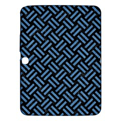 Woven2 Black Marble & Blue Colored Pencil Samsung Galaxy Tab 3 (10 1 ) P5200 Hardshell Case  by trendistuff