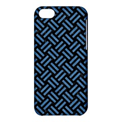 Woven2 Black Marble & Blue Colored Pencil Apple Iphone 5c Hardshell Case by trendistuff
