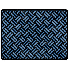 Woven2 Black Marble & Blue Colored Pencil Double Sided Fleece Blanket (large) by trendistuff