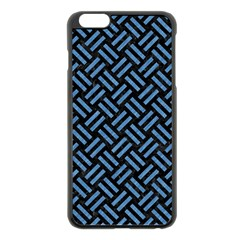 Woven2 Black Marble & Blue Colored Pencil Apple Iphone 6 Plus/6s Plus Black Enamel Case by trendistuff