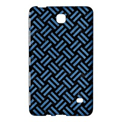 Woven2 Black Marble & Blue Colored Pencil Samsung Galaxy Tab 4 (8 ) Hardshell Case  by trendistuff