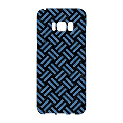 Woven2 Black Marble & Blue Colored Pencil Samsung Galaxy S8 Hardshell Case  by trendistuff