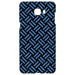 Woven2 Black Marble & Blue Colored Pencil Samsung C9 Pro Hardshell Case  by trendistuff