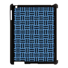Woven1 Black Marble & Blue Colored Pencil (r) Apple Ipad 3/4 Case (black) by trendistuff