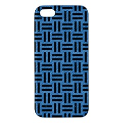 Woven1 Black Marble & Blue Colored Pencil (r) Apple Iphone 5 Premium Hardshell Case by trendistuff
