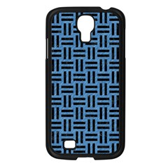 Woven1 Black Marble & Blue Colored Pencil (r) Samsung Galaxy S4 I9500/ I9505 Case (black) by trendistuff