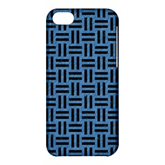 Woven1 Black Marble & Blue Colored Pencil (r) Apple Iphone 5c Hardshell Case by trendistuff