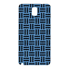 Woven1 Black Marble & Blue Colored Pencil (r) Samsung Galaxy Note 3 N9005 Hardshell Back Case by trendistuff