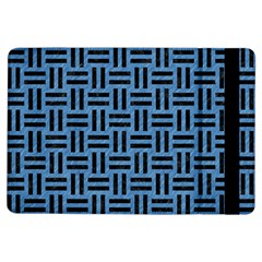 Woven1 Black Marble & Blue Colored Pencil (r) Apple Ipad Air Flip Case by trendistuff