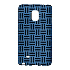 Woven1 Black Marble & Blue Colored Pencil (r) Samsung Galaxy Note Edge Hardshell Case by trendistuff