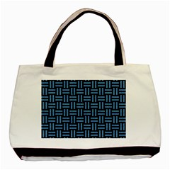 Woven1 Black Marble & Blue Colored Pencil Basic Tote Bag by trendistuff