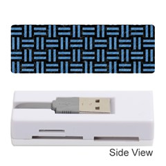 Woven1 Black Marble & Blue Colored Pencil Memory Card Reader (stick) by trendistuff