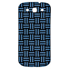 Woven1 Black Marble & Blue Colored Pencil Samsung Galaxy S3 S Iii Classic Hardshell Back Case by trendistuff