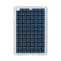 Woven1 Black Marble & Blue Colored Pencil Apple Ipad Mini 2 Case (white) by trendistuff