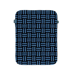 Woven1 Black Marble & Blue Colored Pencil Apple Ipad 2/3/4 Protective Soft Case by trendistuff