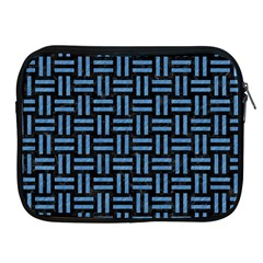 Woven1 Black Marble & Blue Colored Pencil Apple Ipad Zipper Case by trendistuff