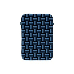 Woven1 Black Marble & Blue Colored Pencil Apple Ipad Mini Protective Soft Case by trendistuff