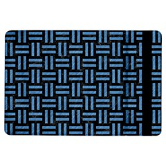 Woven1 Black Marble & Blue Colored Pencil Apple Ipad Air Flip Case by trendistuff
