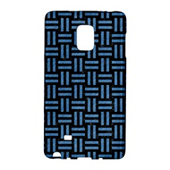 Woven1 Black Marble & Blue Colored Pencil Samsung Galaxy Note Edge Hardshell Case by trendistuff
