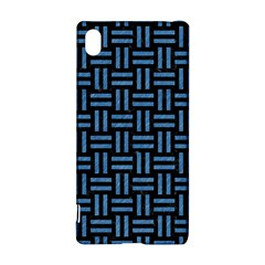 Woven1 Black Marble & Blue Colored Pencil Sony Xperia Z3+ Hardshell Case