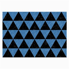 Triangle3 Black Marble & Blue Colored Pencil Large Glasses Cloth by trendistuff