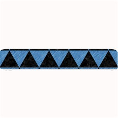 Triangle3 Black Marble & Blue Colored Pencil Small Bar Mat by trendistuff