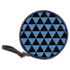 Triangle3 Black Marble & Blue Colored Pencil Classic 20 Cd Wallet by trendistuff