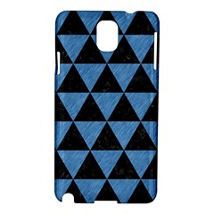Triangle3 Black Marble & Blue Colored Pencil Samsung Galaxy Note 3 N9005 Hardshell Case by trendistuff