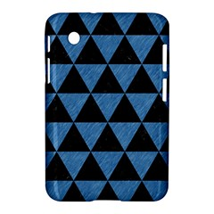 Triangle3 Black Marble & Blue Colored Pencil Samsung Galaxy Tab 2 (7 ) P3100 Hardshell Case  by trendistuff