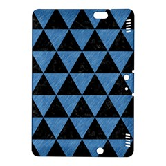 Triangle3 Black Marble & Blue Colored Pencil Kindle Fire Hdx 8 9  Hardshell Case by trendistuff