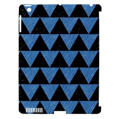 Triangle2 Black Marble & Blue Colored Pencil Apple Ipad 3/4 Hardshell Case (compatible With Smart Cover) by trendistuff